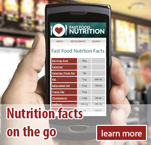 Fast Food Nutrition Facts on Mobile