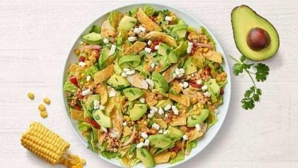 Panera Southwest Chile Lime Ranch Salad with Chicken Nutrition Facts