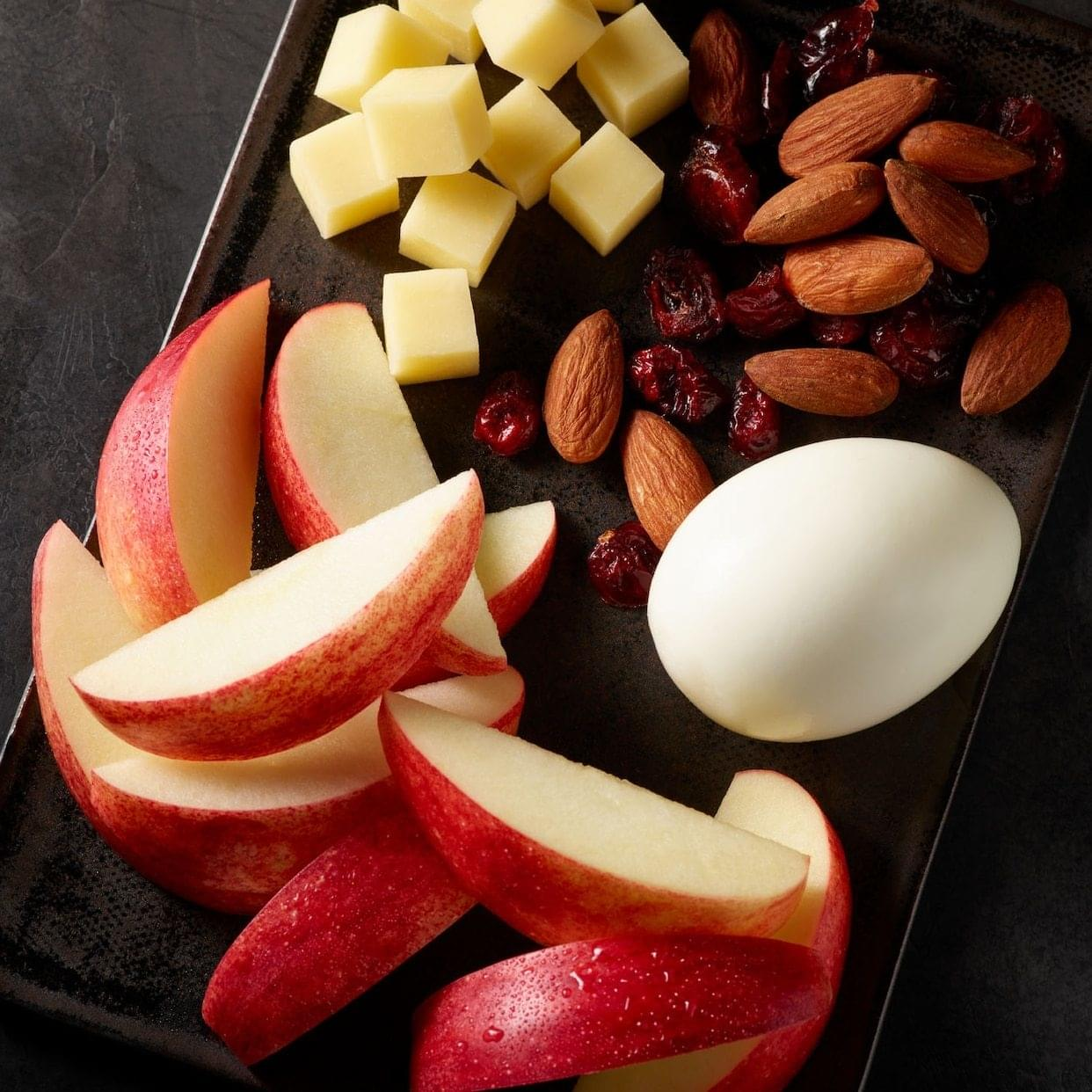 Starbucks Prosnax Gala Apples, Egg, White Cheddar Cheese, and Almonds Snack Box Nutrition Facts