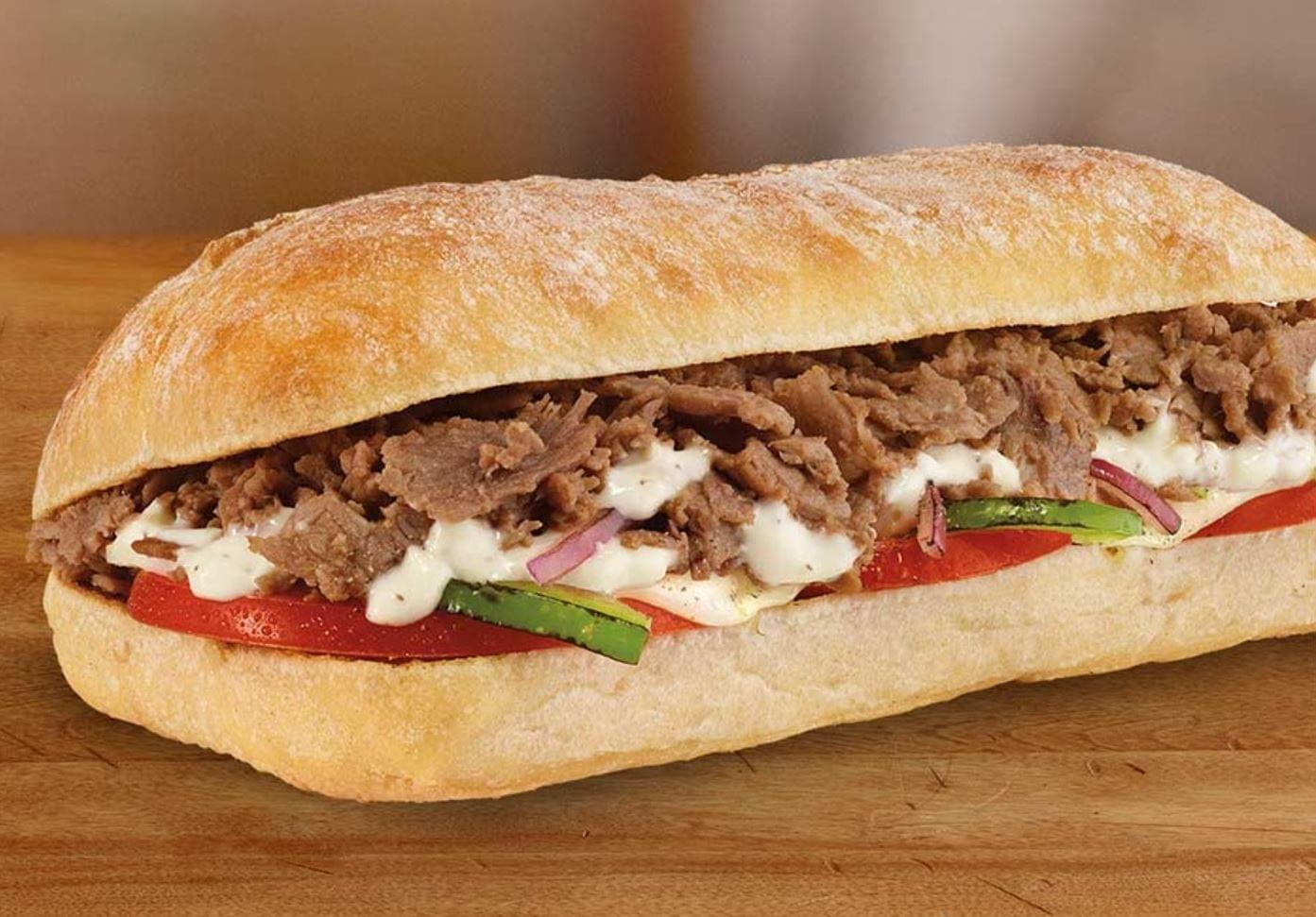 "Subway 6"" Garlic Steak & Provolone Ciabatta Sandwich Nutrition Facts"