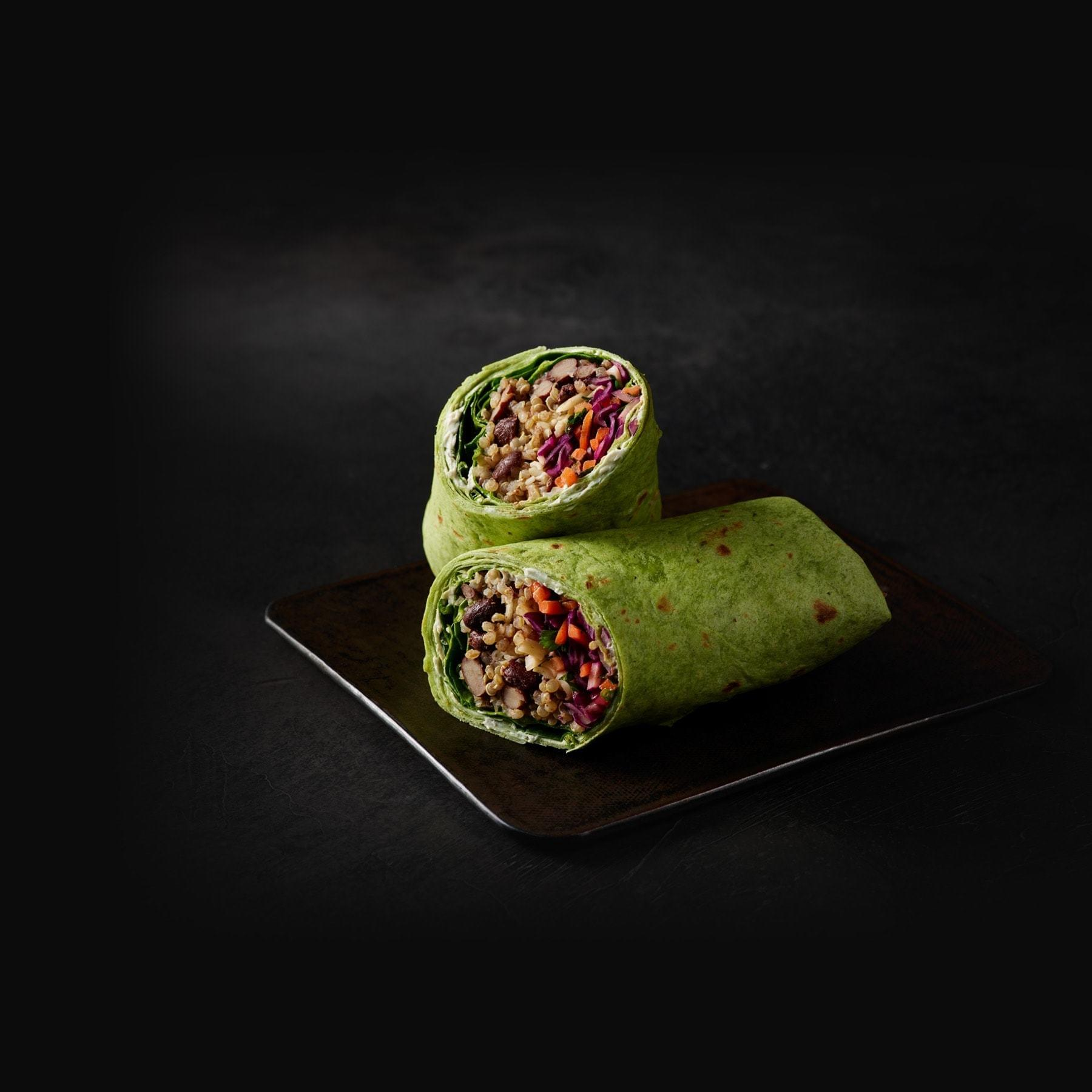 Starbucks Baja Black Bean Veggie Wrap Nutrition Facts