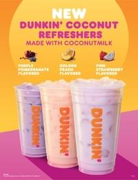 Dunkin Donuts Golden Peach Coconut Refreshers