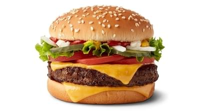 McDonald's Double Quarter Pounder with Cheese Deluxe Nutrition Facts