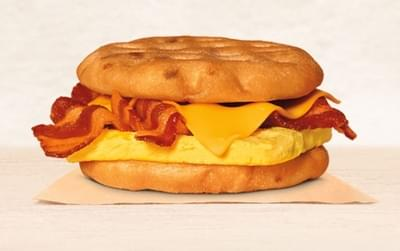 Burger King Bacon Egg Amp Cheese Maple Waffle Sandwich