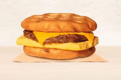 Burger King Sausage, Egg & Cheese Maple Waffle Sandwich Nutrition Facts