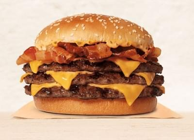 Burger King Triple Stacker King Nutrition Facts
