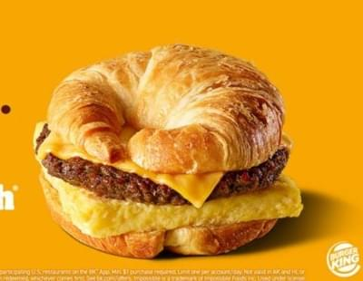 Burger King Impossible Croissan'wich Nutrition Facts