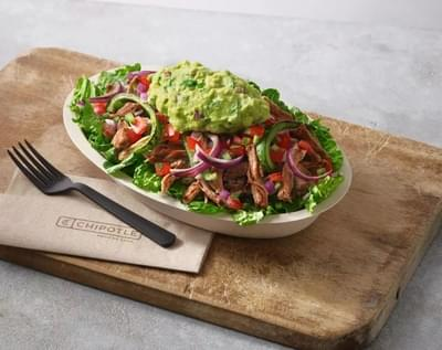 Chipotle Steak Salad Nutrition Facts
