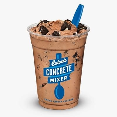 Culvers Chocolate Oreo Concrete Mixer Nutrition Facts