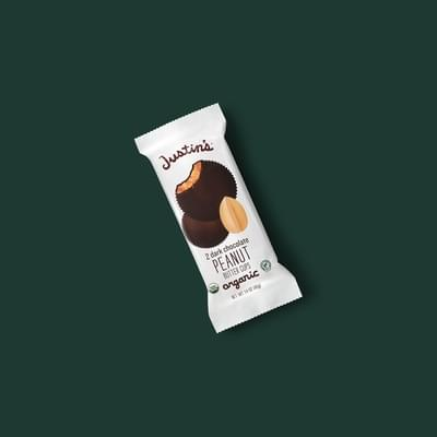 Starbucks Justin's Dark Chocolate Peanut Butter Cups Nutrition Facts