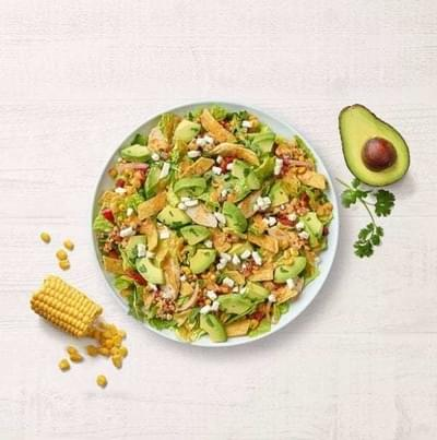 Panera Half Southwest Chile Lime Ranch Salad with Chicken Nutrition Facts