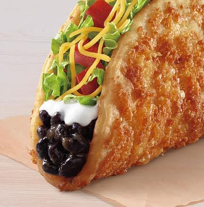 Taco Bell Black Bean Toasted Cheddar Chalupa Nutrition Facts