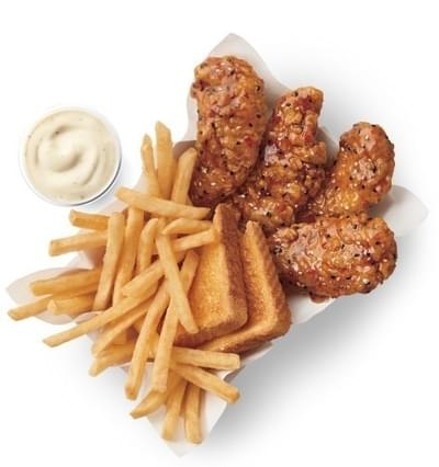 Dairy Queen 6 Piece Sweet & Tangy Sesame Sauced & Tossed Chicken Strip Basket Nutrition Facts