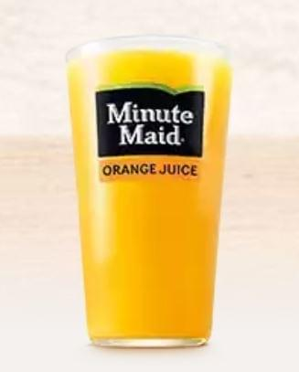Burger King Minute Maid Orange Juice Nutrition Facts