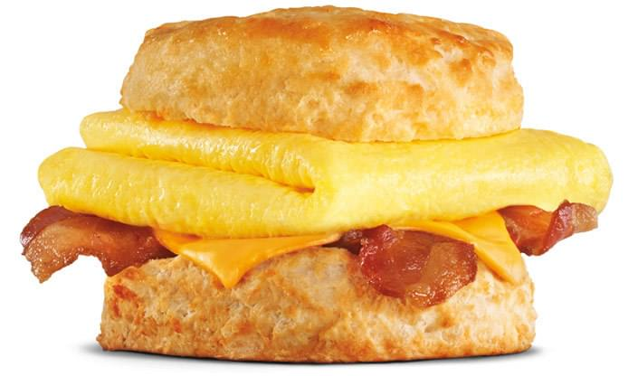 Carl's Jr Bacon, Egg & Cheese Biscuit Nutrition Facts