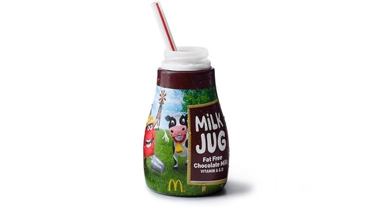 McDonald's Fat Free Chocolate Milk Jug Nutrition Facts