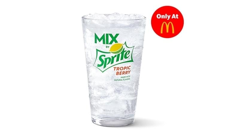 McDonald's Small MIX by Sprite Tropic Berry Nutrition Facts
