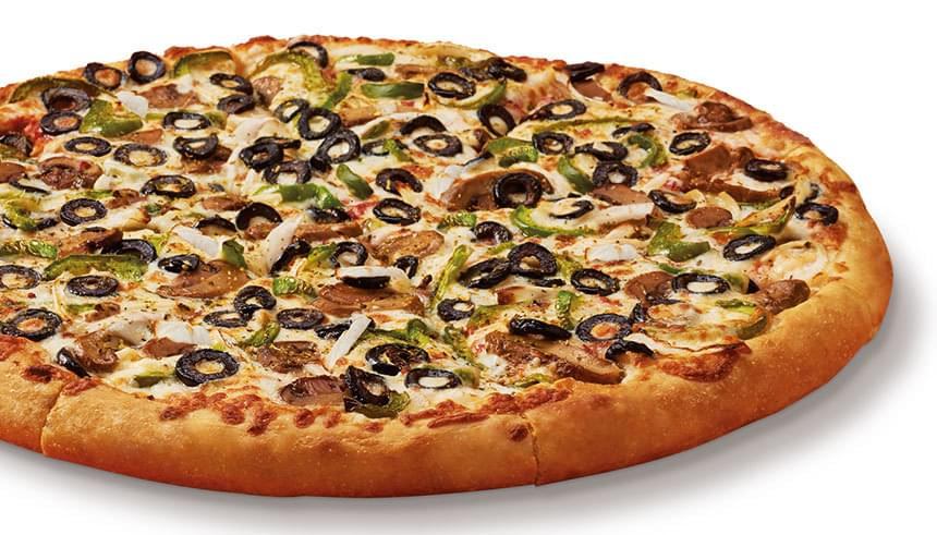 How Many Calories In 1 Slice Of Domino S Veggie Pizza Little Caesars Veggie Pizza Nutrition Facts