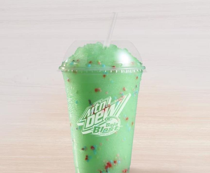 Taco Bell Baja Blast Birthday Freeze Nutrition Facts