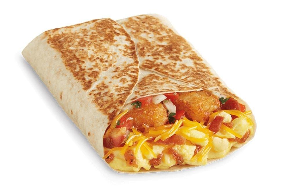 Del Taco Egg & Cheese Breakfast Toasted Wrap Nutrition Facts