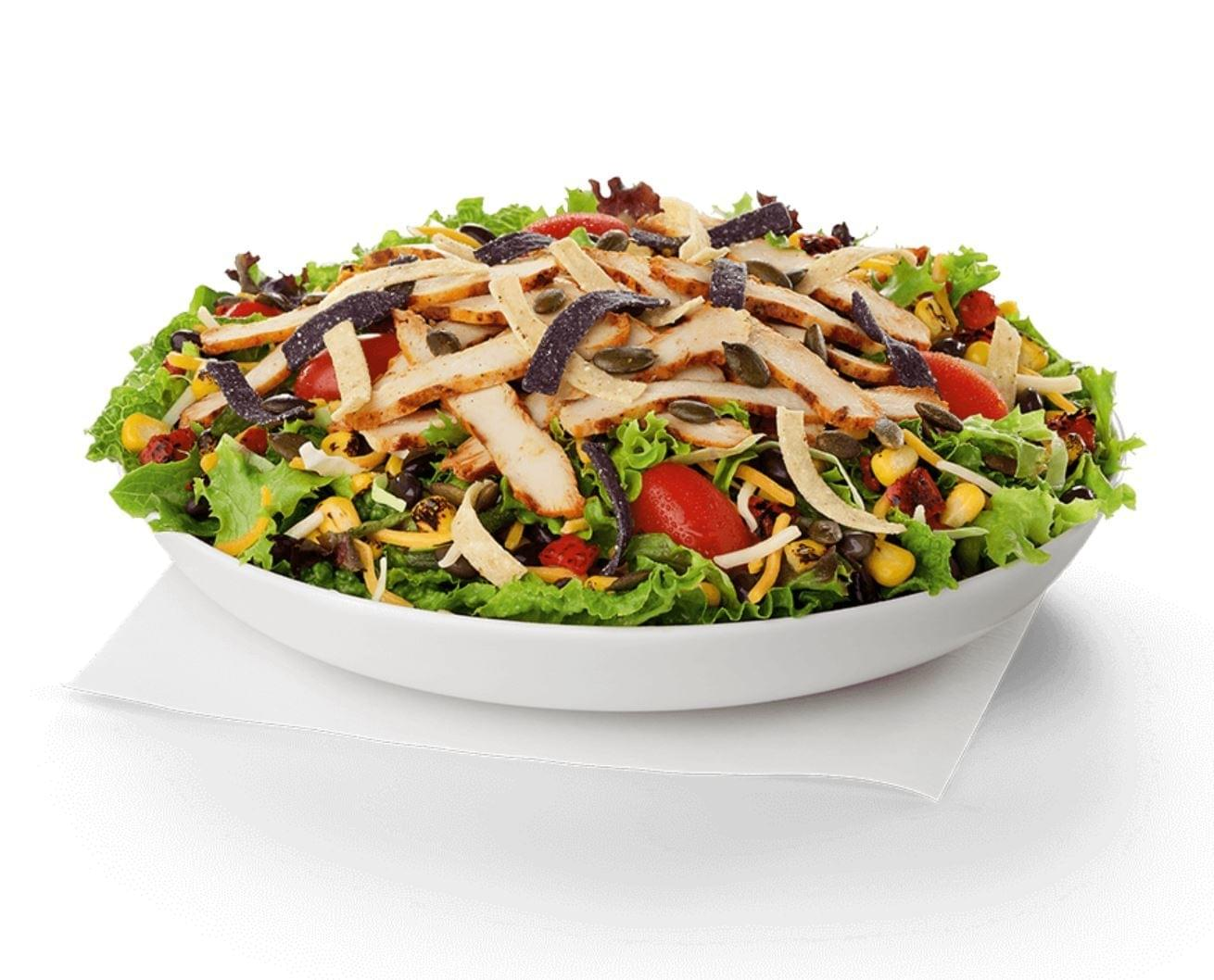 Chick-fil-A Spicy Southwest Salad with Spicy Grilled Chicken Nutrition Facts