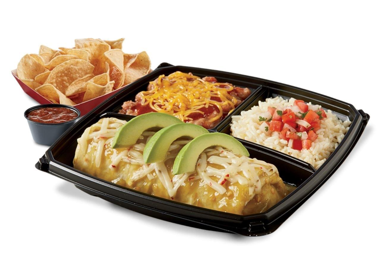 Del Taco Chicken Verde Wet Burrito Plato Nutrition Facts