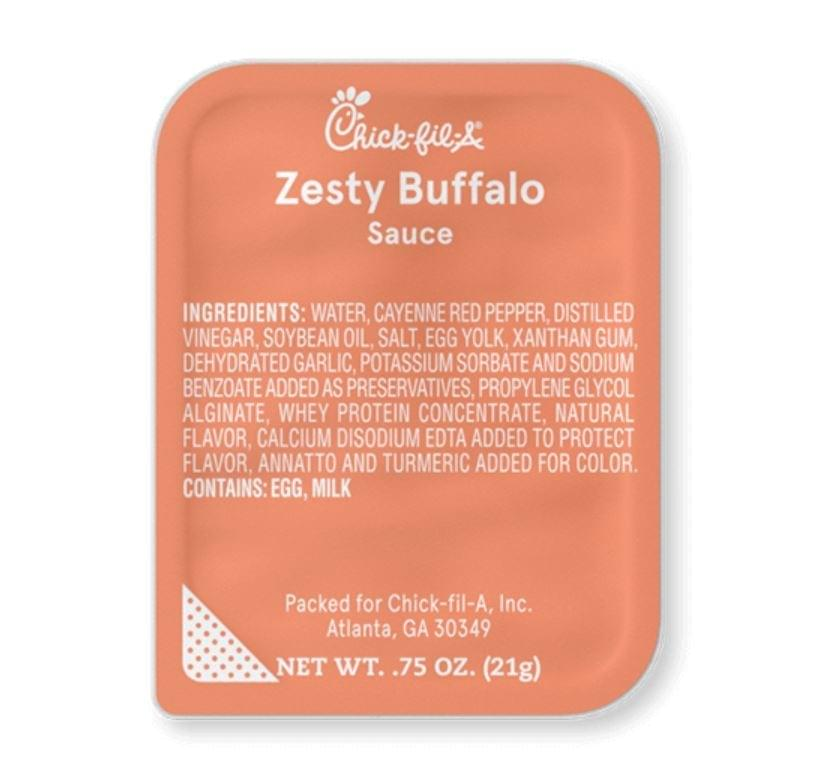 Chick-fil-A Zesty Buffalo Sauce Nutrition Facts