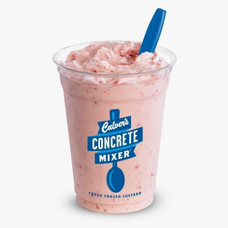 Culvers Strawberry Concrete Mixer Nutrition Facts