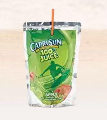 Burger King Capri Sun Apple Juice Nutrition Facts