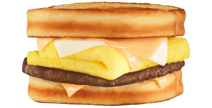 Carl's Jr Grilled Cheese Breakfast Sandwich Nutrition Facts