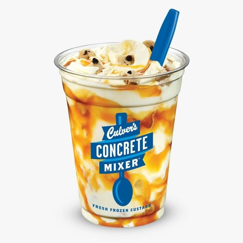 Culvers Salted Caramel Cookie Dough Concrete Mixer Nutrition Facts