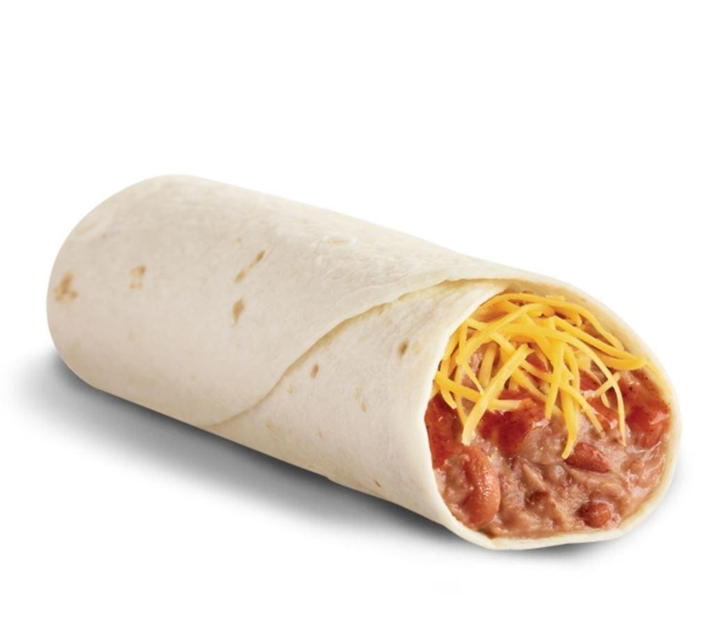 Del Taco Bean & Cheese Burrito with Red Sauce Nutrition Facts
