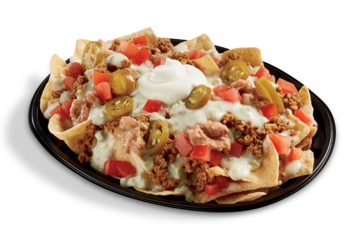 Del Taco Regular Beef Queso Loaded Nachos Nutrition Facts
