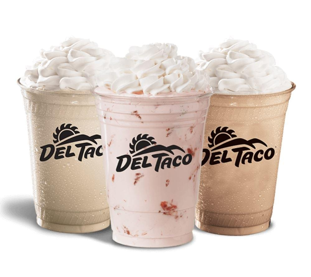 Del Taco Large Chocolate Shake Nutrition Facts
