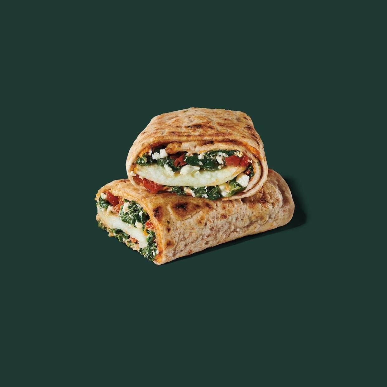 Starbucks Spinach, Feta & Cage Free Egg White Breakfast Wrap Nutrition Facts
