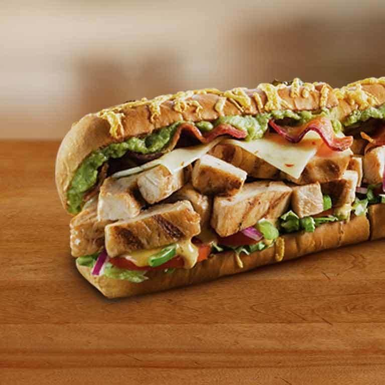 Subway Footlong Southwest Chicken Club Sandwich Nutrition Facts
