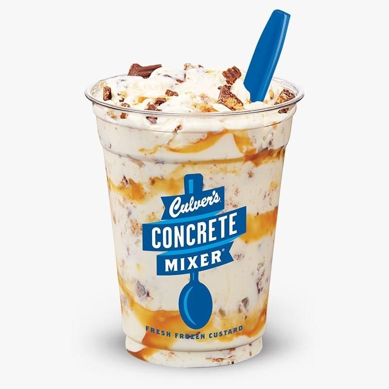 Culvers Salted Caramel Reese's Concrete Mixer Nutrition Facts