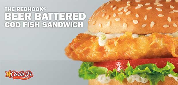 Hardee's and Carl's Jr Redhook Beer-Battered Cod Fish Sandwich