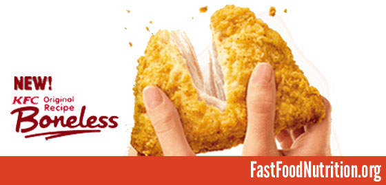 KFC Boneless Chicken Nutrition