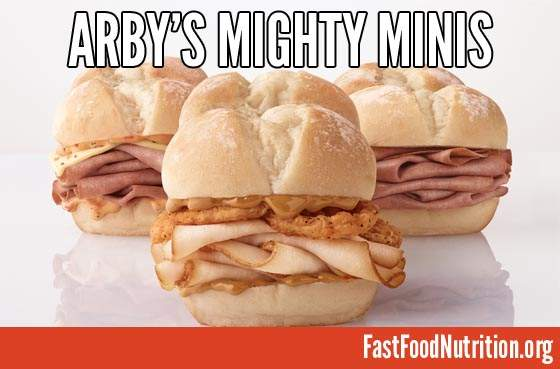 Arby's Mighty Mini Sliders Nutrition