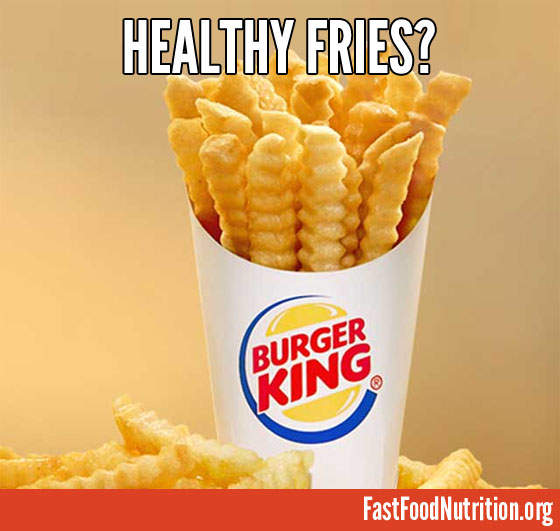 Are they healthy? Burger King Satisfries Nutriton Facts