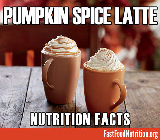 Starbucks Pumpkin Spice Latte Nutrition Facts