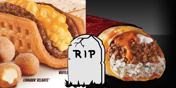 Taco Bell Discontinues the Sriracha Quesarito and Waffle Tacos