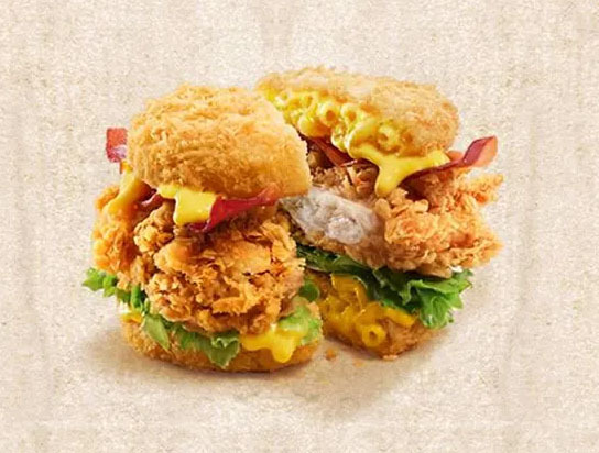 KFC Creates Mac n Cheese Bun Chicken Sandwich in Singapore