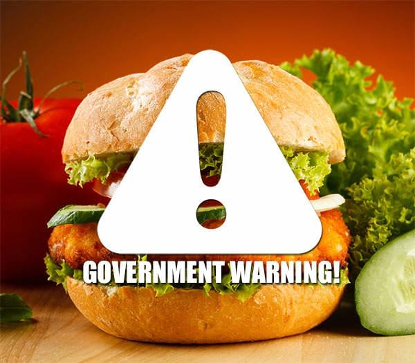 Your Next Fast Food Meal Might Come With A Government Warning