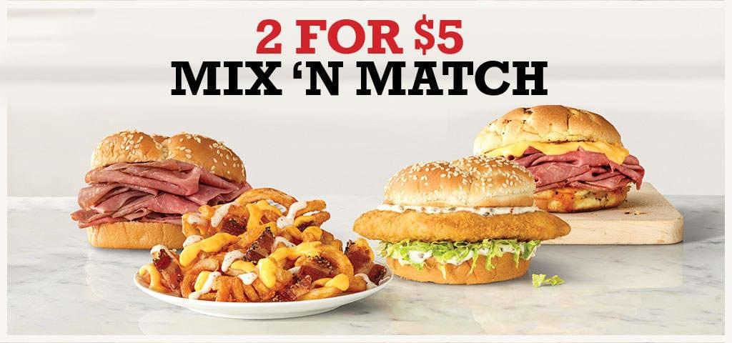 Arby's 2 for $5 Mix n Match Returns