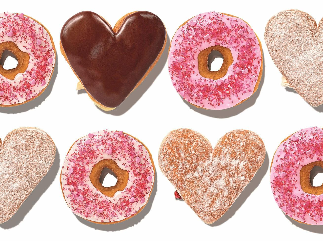 Dunkin' Celebrates Valentine's with Heart-Shaped Donuts and Weddings