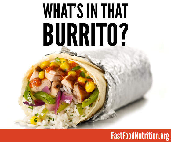 fast food nutrition.org Get the Facts on Chipotle