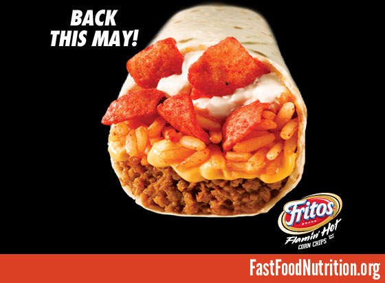 fast food nutrition.org Taco Bell Beefy Crunch Burrito Nutrition