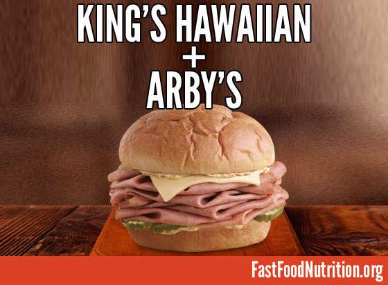 Arby's King's Hawaiian Roast Beef Nutrition